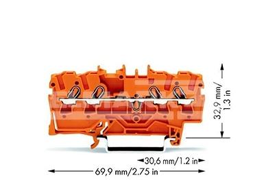 ZŁĄCZKA 4-PRZEW.2,5mm2 POMAR.