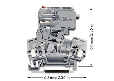 ZŁĄCZKA Z UCHYLN.ELEM.BEZP.SZARA5x20mm,5x25mm,5x30mm Z SYGN.